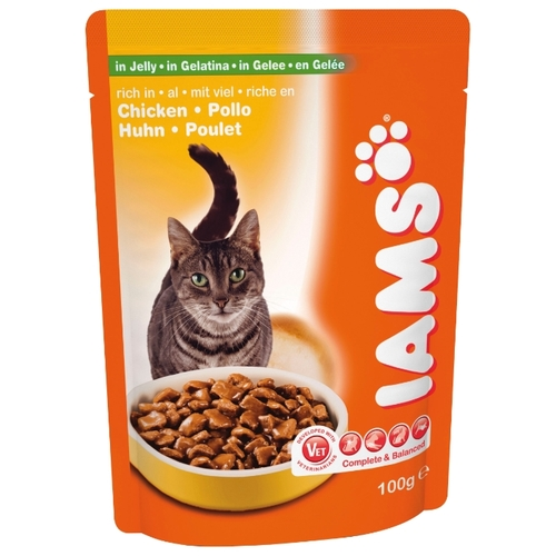 Iams Cat Pouch Adult with Rich in Chicken in Jelly (0.1 кг) 1 шт. Корма для кошек