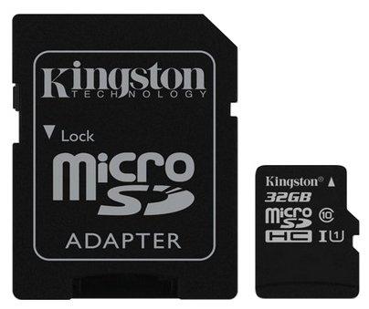 Карта памяти Kingston SDC10/32GB UHS-I — купить по выгодной цене на Яндекс.Маркете