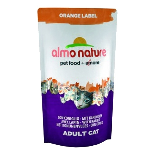 Корм для кошек Almo Nature Orange Label Adult Cat Rabbit (0.105 кг) 1 шт.