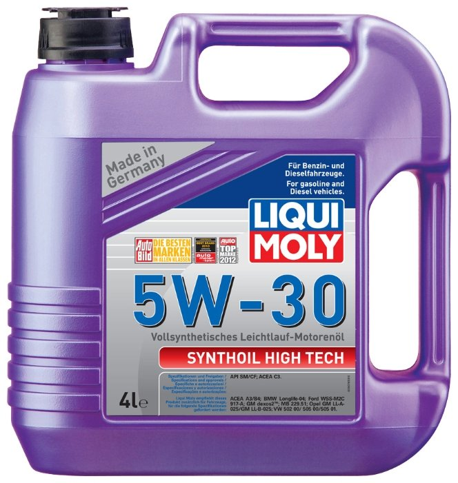 Моторное масло LIQUI MOLY Synthoil High Tech 5W-30 4 л