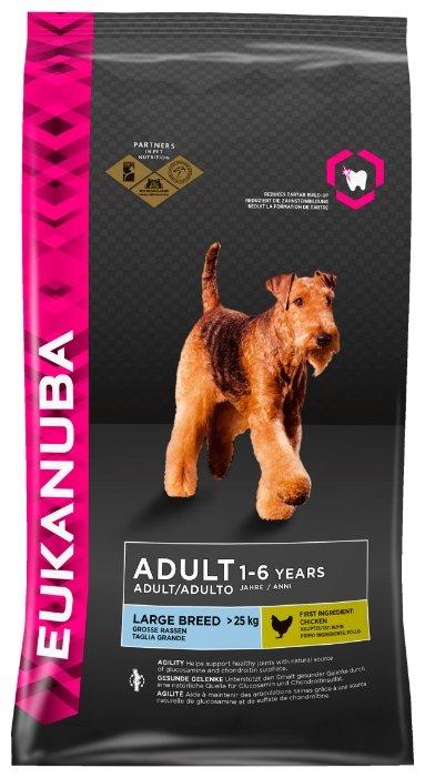 Корм для собак Eukanuba Adult Dry Dog Food For Large Breed Chicken