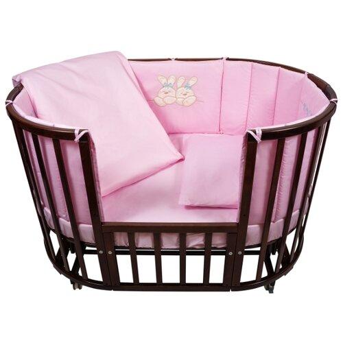 Купить Nuovita комплект Leprotti (6 предметов) 125х75 см розовый, Постельное белье и комплекты