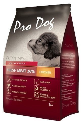 Корм для собак Pro Dog Для щенков мелких пород с курицей сухой