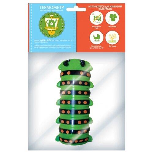 Термометр GARDEN SHOW Гусеница зеленый