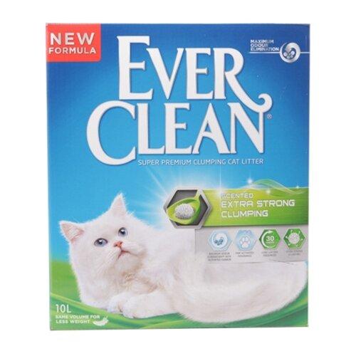 Комкующийся наполнитель Ever Clean Extra Strength Scented 10 л наполнитель для кошачьего туалета ever clean scented extra strong комкующийся с ароматиз 6л
