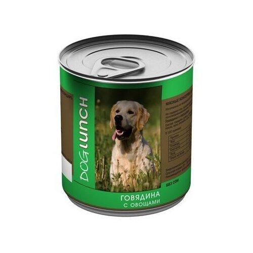Корм для собак Dog Lunch (0.75 кг) 1 шт. Говядина с овощами в желе для собак корм смайли говядина в желе 750g для собак 81069