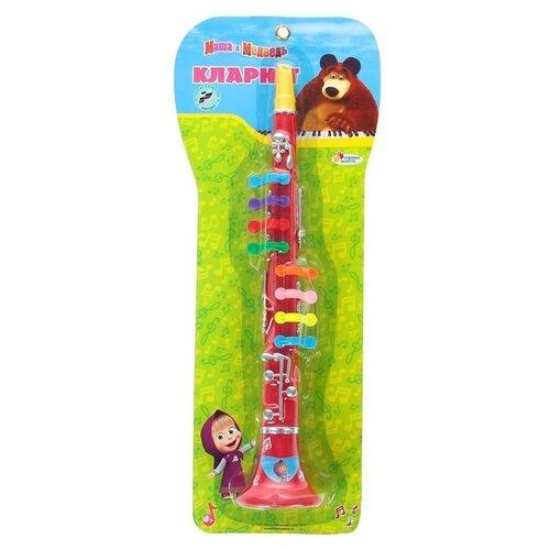 Купить Играем вместе кларнет Маша и Медведь B323586-R2 красный, Детские музыкальные инструменты