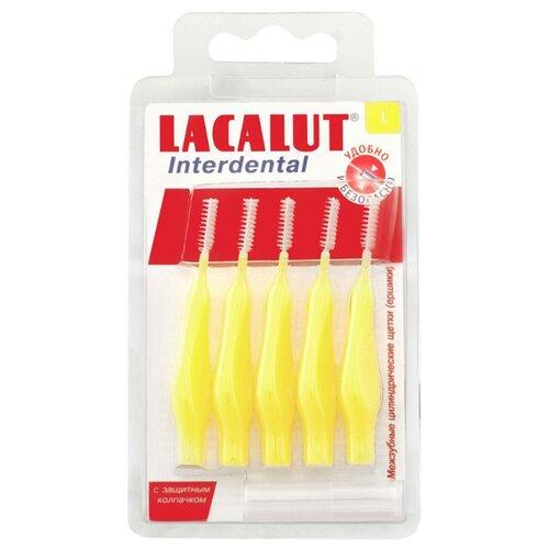 Зубной ершик Lacalut Interdental L, желтый, 5 шт.Зубные щетки<br>