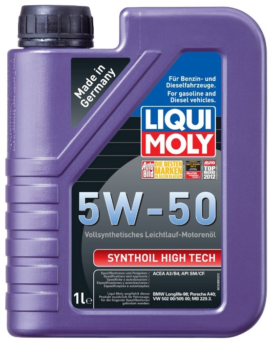 Моторное масло LIQUI MOLY Synthoil High Tech 5W-50 1 л