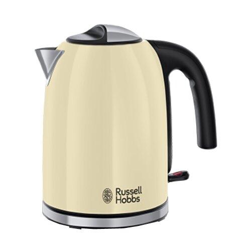 Чайник Russell Hobbs 20415-70, кремовый чайник russell hobbs 24991 silver