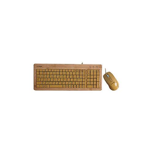 Купить Клавиатура и мышь Konoos Bambook-001 Brown USB