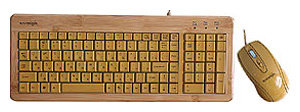 Клавиатура и мышь Konoos Bambook-001 Brown USB