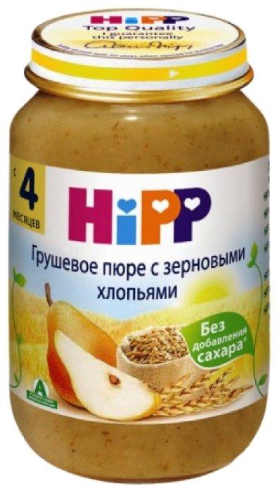 Пюре HiPP грушевое с зерновыми хлопьями (с 6 месяцев) 190 г