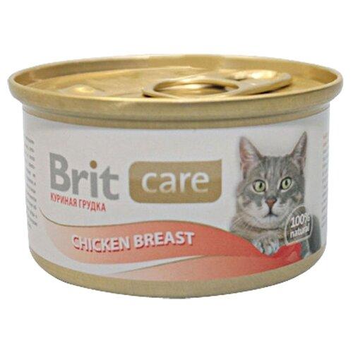 Фото - Влажный корм для кошек Brit Care, с курицей 48 шт. х 80 г (мини-филе) влажный корм для кошек brit care с курицей 2 шт х 80 г мини филе