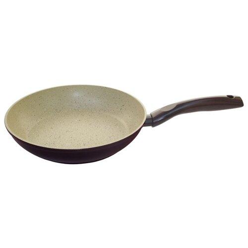 Сковорода Mallony MP-28 28см, бежевый/коричневый сковорода mallony mp 20 20cm 2100