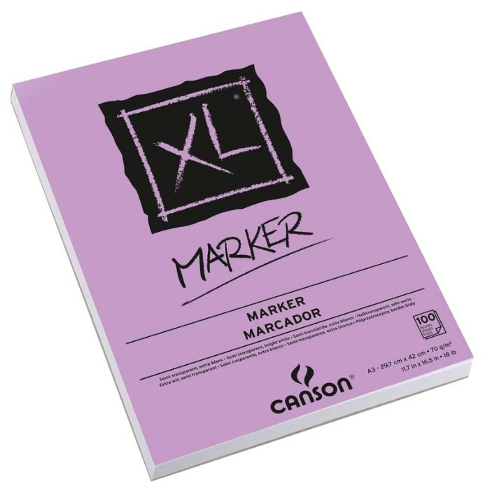 Альбом для маркеров Canson XL Marker 42 х 29.7 см (A3), 70 г/м², 100 л.