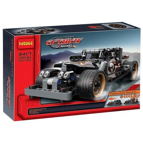 Купить Конструктор Jisi bricks (Decool) Technic 3417 Гоночный автомобиль для побега, Конструкторы