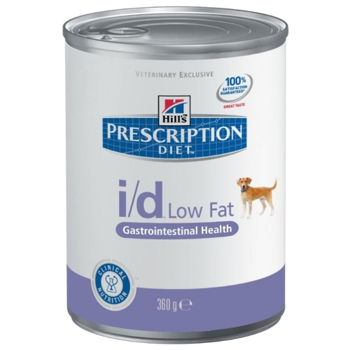 Hill's Prescription Diet I/D Canine Low Fat Gastrointestinal Health canned (0.36 кг) 3 шт. Лечебные корма
