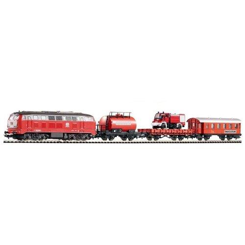 PIKO Стартовый набор Пожарный поезд со звуковыми эффектами, серия Hobby, 57156 Sound, H0 (1:87) piko стартовый набор грузовой поезд taurus серия hobby 57177 h0 1 87