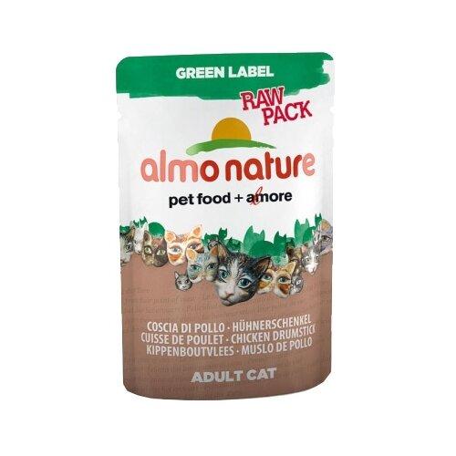 Влажный корм для кошек Almo Nature Green Label, с куриными бедрышками 55 г
