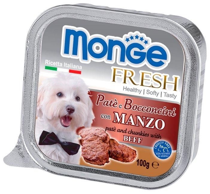 Корм для собак Monge Fresh говядина 32шт. х 100г