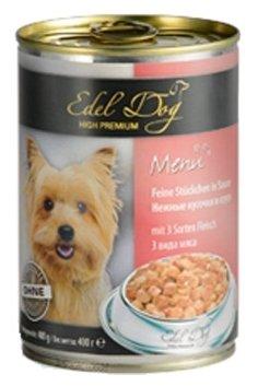 Корм для собак Edel Dog 3 вида мяса