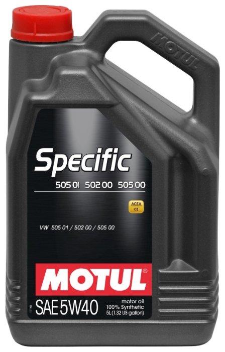 Моторное масло Motul Specific 502 00 505 00 505 01 5W40 5 л