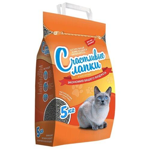Наполнитель Счастливые лапки Эконом (5 кг)Наполнители для кошачьих туалетов<br>
