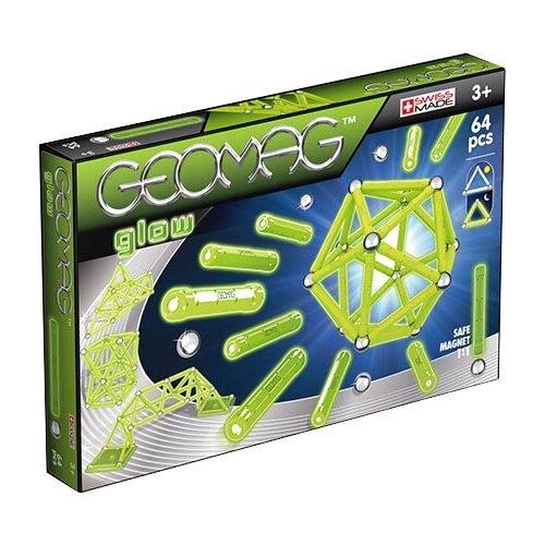 Купить Магнитный конструктор GEOMAG GLOW 336-64, Конструкторы