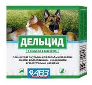Средства от блох Авз Дельцид средство от блох для собак и кошек 2мл*5апмул, 10гр, 10 гр