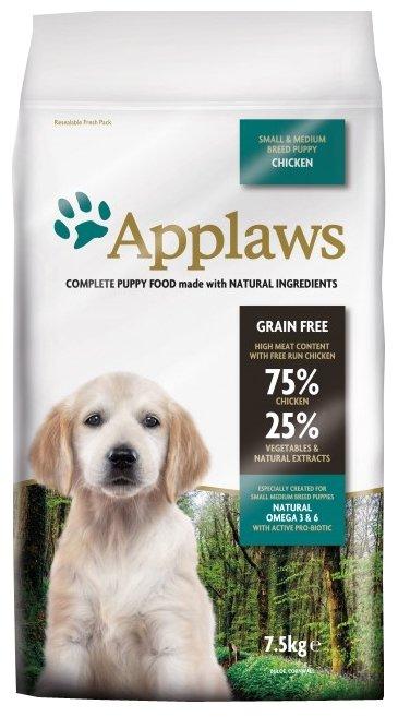Корм для собак Applaws Puppy Small & Medium Breed Chicken
