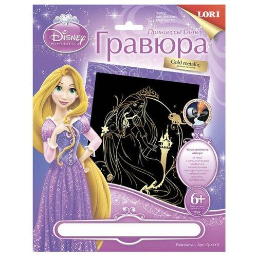 цена на Гравюра LORI Принцессы Disney. Рапунцель (Грд-001) золотистая основа