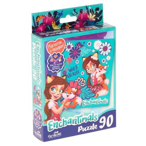 Купить Пазл Origami Enchantimals Wild Hearts (03547), 90 дет., Пазлы