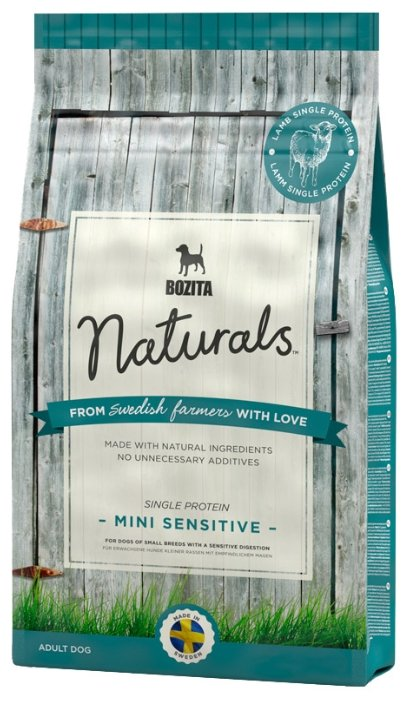 Корм для собак Bozita Naturals для здоровья кожи и шерсти, ягненок 9 кг
