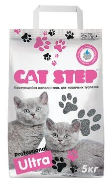 Cat Step Professional Ultra, комкующийся (5 кг)
