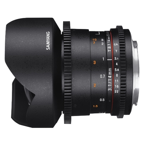 Объектив Samyang 14mm T3.1 ED AS IF UMC VDSLR II Canon EF Объективы