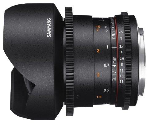 Samyang Объектив Samyang 14mm T3.1 ED AS IF UMC VDSLR II Canon EF