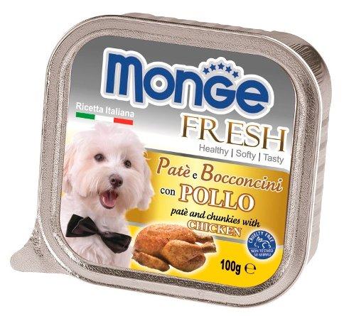 Корм для собак Monge Fresh курица 32шт. х 100г