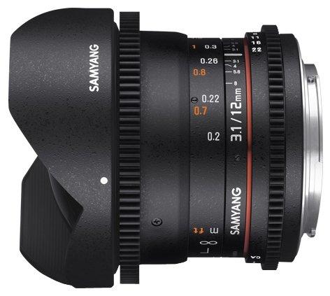 Samyang 12mm T3.1 ED AS NCS VDSLR Fish-eye Minolta A