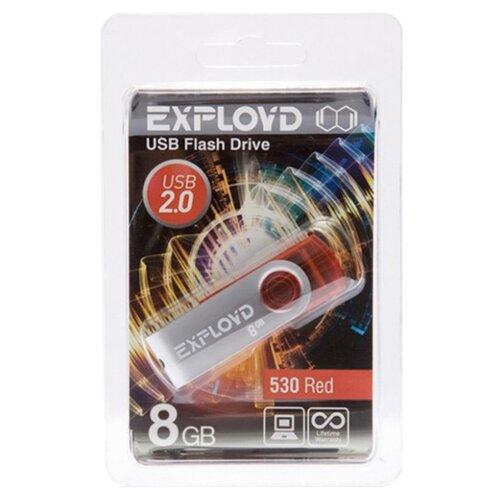 Купить Флешка EXPLOYD 530 8GB red