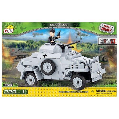 Конструктор Cobi Small Army World War II 2366 Легкая бронемашина Sd.Kfz.222Конструкторы<br>