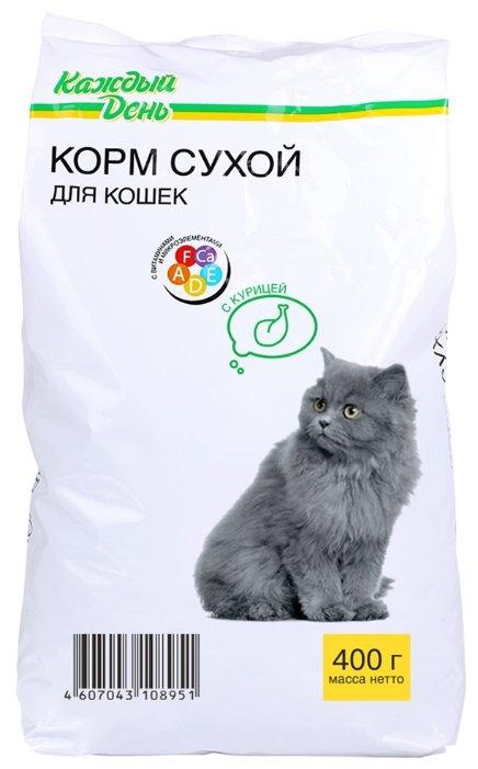 Каждый День Сухой корм для кошек с курицей (0.4 кг)