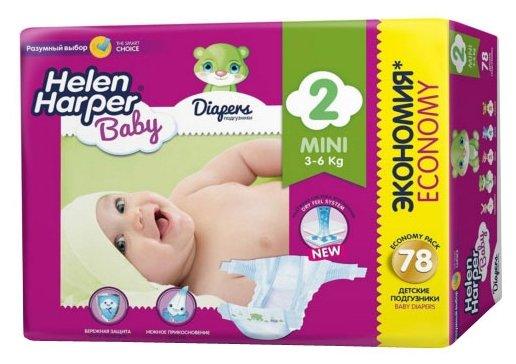 Helen Harper подгузники Baby 2 (3-6 кг) 78 шт.