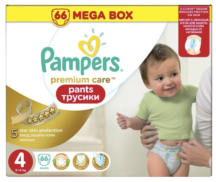 Pampers Premium Care трусики 4 (9-14 кг)