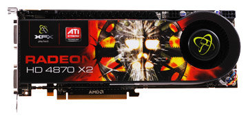 XFX Radeon HD 4870 X2 750Mhz PCI-E 2.0 2048Mb 3600Mhz 512 bit 2xDVI TV HDCP YPrPb