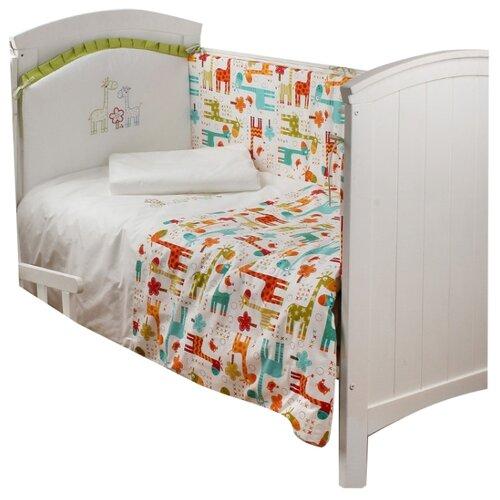 Купить Makkaroni Kids комплект Giraffe (6 предметов) 120х60 см жирафы, Постельное белье и комплекты