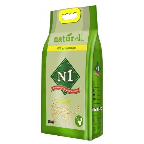 Фото - Комкующийся наполнитель N1 Naturel Кукурузный 17.5 л комкующийся наполнитель n1 naturel зеленый чай 17 5 л