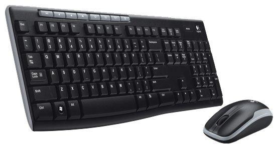 Клавиатура и мышь Logitech Wireless Combo MK260 Black USB