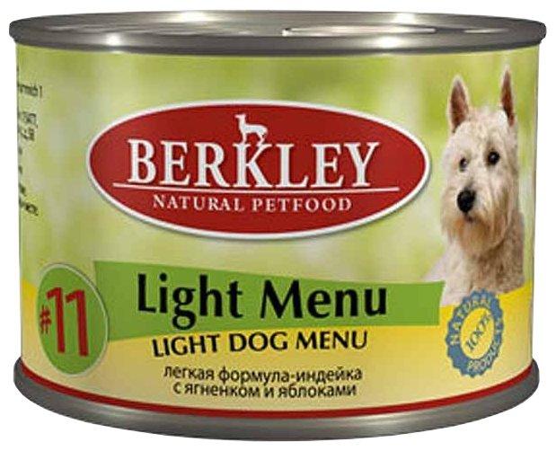 Корм для собак Berkley (0.2 кг) Паштет для собак #11 Лёгкое меню индейка с ягненком и яблоками
