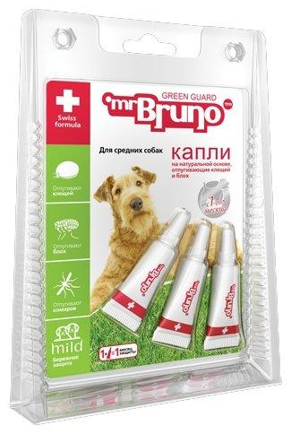 Mr.Bruno Капли репеллентные Грин Гард для средних собак 10–30 кг